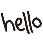 Icon of a hello sign